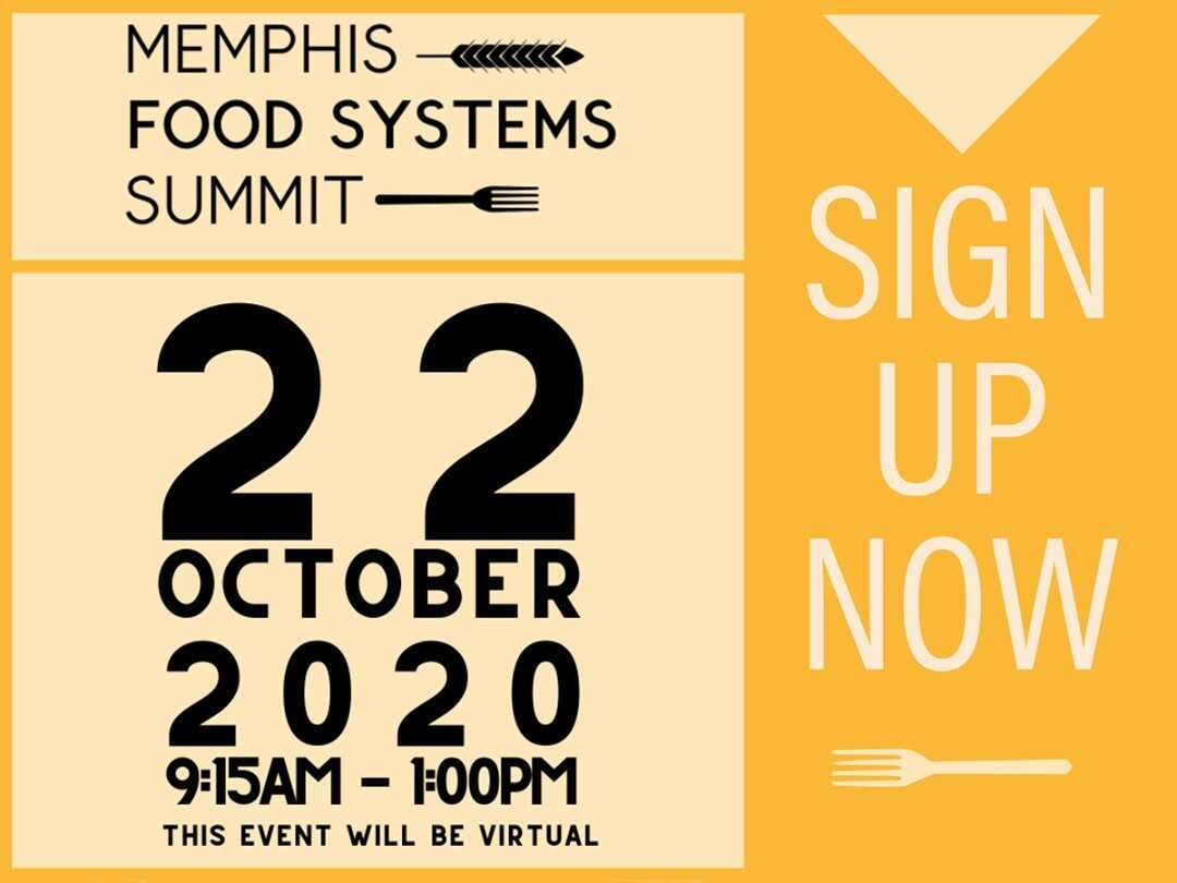 Memphis food systems summit - October 22, 2020