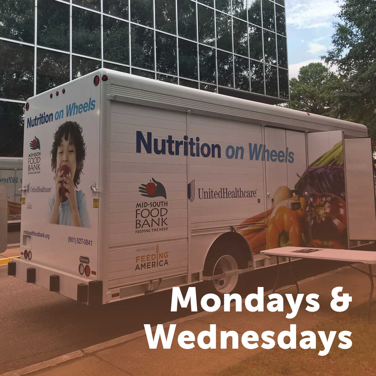 Nutrition on Wheels - Mondays and Wednesdays