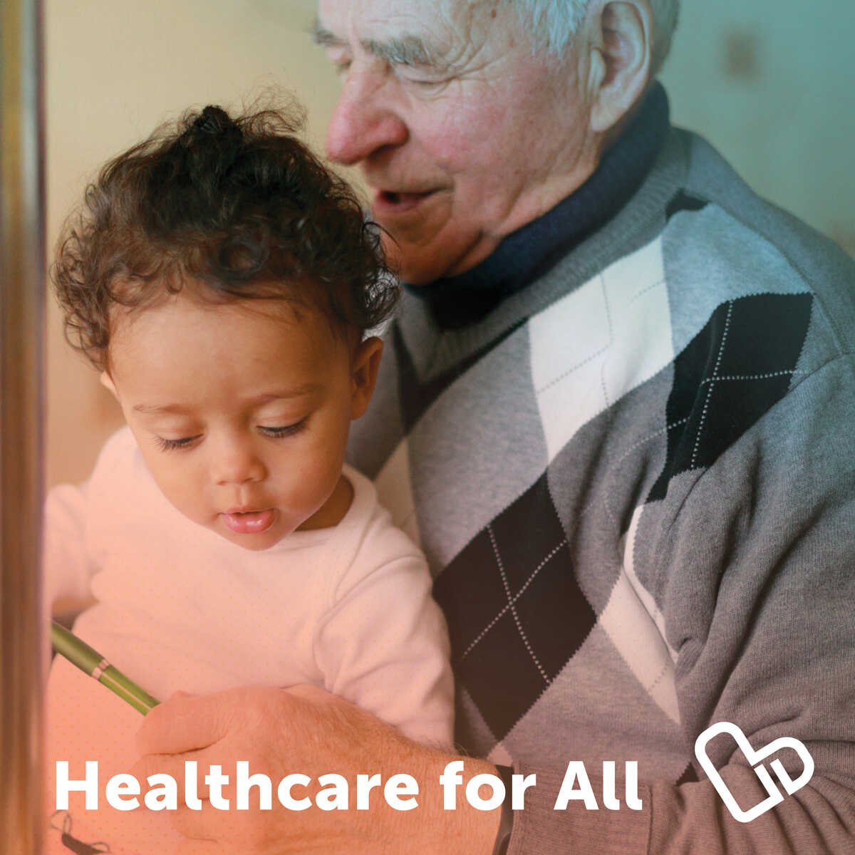 Healthcare for all - photo of grandparent and grandchild